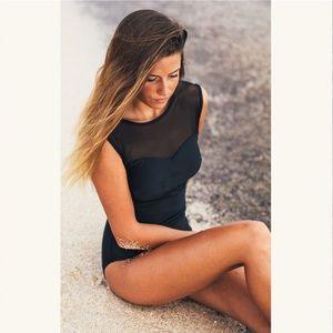 Albion Fit- Maria Black Mech One-Piece Swimsuit